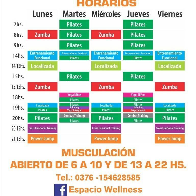 Horarios en el gimnasio wellness el centesimo mono for Horario gimnasio